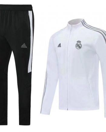 Real Madrid Presentation Tracksuit White